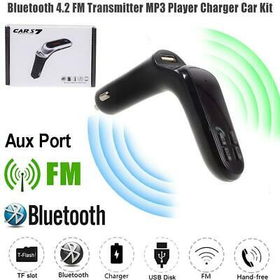 New Bluetooth Car Kit Wireless FM Transmitter USB Charger Audio MP3 Player