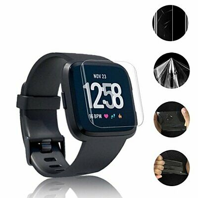 Clear Explosion-proof LCD TPU Screen Protector For Fitbit Versa + Cleaning Kit!