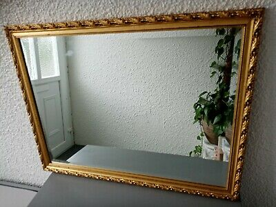 Vintage Gold Ornate Mirror Wooden Frame - vintage french style