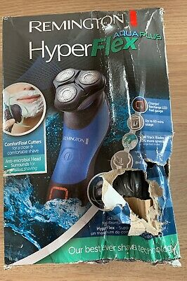 Remington XR1450 Hyper Flex Aqua Plus Wet/Dry Shaver Rechargeable Damaged Box