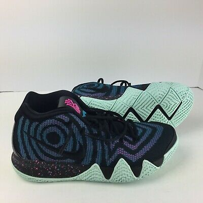 74006f55d85b3 Nike Kyrie 4 Men's Basketball Shoes 943806 007 Black-Black Laser Fuchsia
