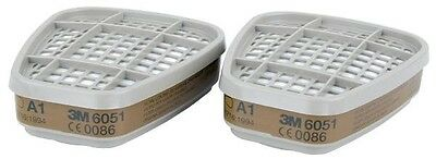 1 Pair 3M 6051 A1 Organic Gas Vapour & Particulate Filters / 6000 Series
