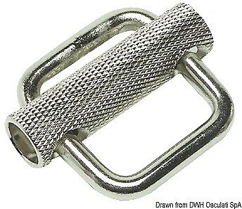 Stainless steel buckle 25 mm Osculati