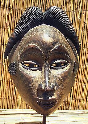 "African Punu Maiden Spirit Mask From Gabon 13"" Tall WAS $275"