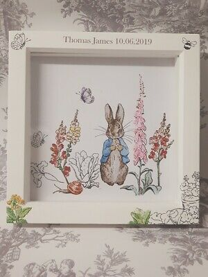 Personalised 3D Box Frame Beatrix Potter Peter Rabbit Picture & Frame ❤