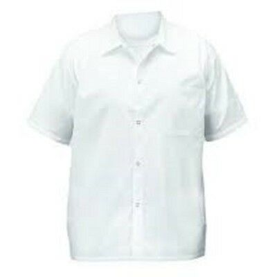 WINCO UNF-1WS Chef shirts, white, S 1 PC
