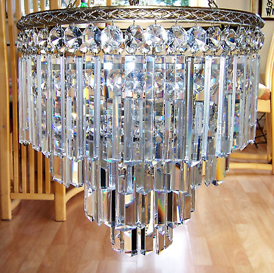 Superb Quality Victorian Glass Four Tier  Waterfall Chandelier