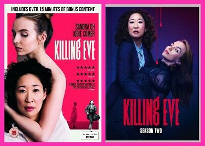 Killing Eve Season One and Two DVD Double Pack Sandra Oh, Jodie Comer Pre-Order