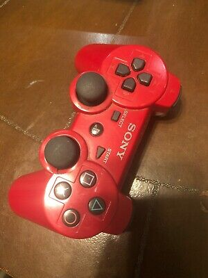 Authentic Official OEM Sony PS3 Wireless Dualshock 3 Controller Red CECHZC2U