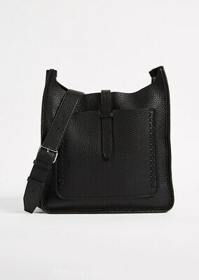 3aa47021f NWT REBECCA MINKOFF MINI Unlined Leather Feed Bag with Whipstitch ...