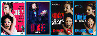 Killing Eve The Complete Pack ~ Season 1 and 2 DVD and both Paperbacks! PreOrder