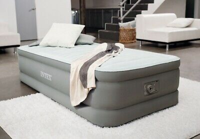 """Intex Premaire Elevated Airbed With Built-in Electric Pump, Bed Height 18"""", Twin"""