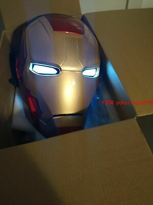 CATTOYS IRON MAN MK42 Helmet 1:1 MASK LED EYE COOL REPLICA DELUXE MODEL COSPLAY