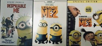3-Movie Collection DVD  DESPICABLE ME 1 2 & 3 / New - Free Shipping