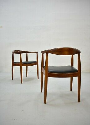 Mid Century Wooden Dining Chairs in Style of Hans Wegner, 1960s Danish Modern