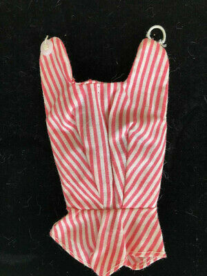 Vintage 1960's Barbie Clone of  BUSY GAL #981 Red & White Striped Bodysuit
