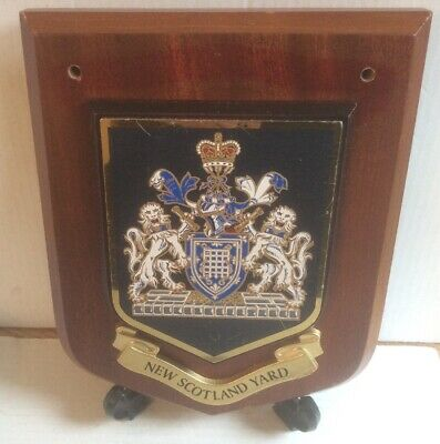 Vintage New Scotland Yard Police Metallic Wall Plaque, Shield