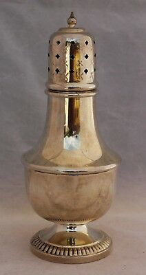 Antique Silver Plated Sugar Shaker/Muffineer - Bugle Stamp