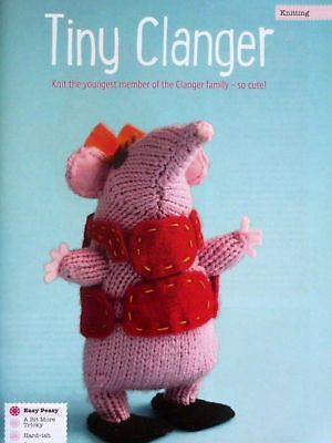 Clangers Toy ~ DK Knitting Pattern ~  Small /& Large Clanger