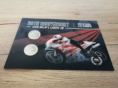 2019 Isle Of Man Steve Hislop £2 Coin set and stamp ONLY 1000 set  worldwide