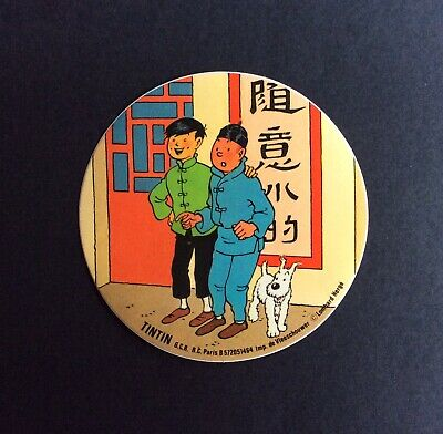 Tintin & Friends of the World with Tchang Sticker Very Good Condition