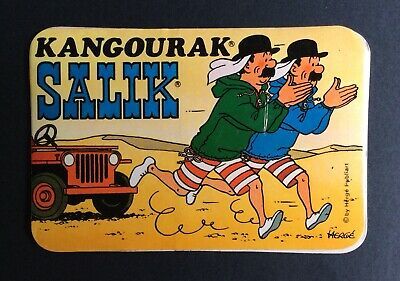 Tintin Sticker Salik Kangourak all Dupondt in the Desert Fine Condition