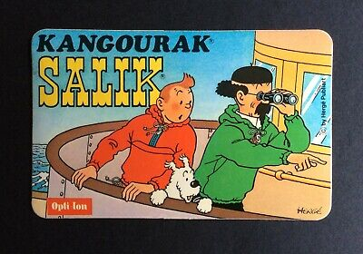 Tintin Sticker Salik Kangourak Tintin & Sunflower Boat near Mint (NM)