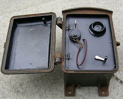 80 Pound Vintage Kellogg S & S Company Model 4883 Cast Iron Outdoor Mine Phone