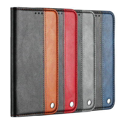 For Samsung Galaxy S7 S8 S9 S10+ J3 J4 J5 J6+ Magnetic Leather Wallet Case Cove