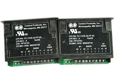 Control Products Inc Lot of 2 TC-110S-24-PF-02 Single Relay Temp Controller