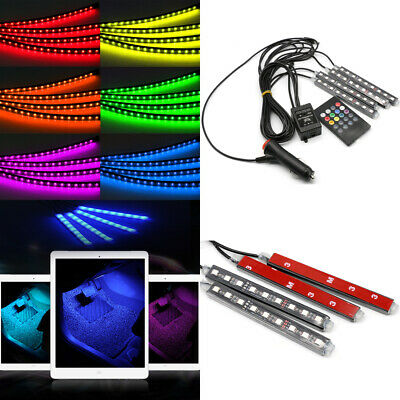 Car Interior Footwell 36 LED RGB Strip Atmosphere Light Muticolour Lighting 4in1