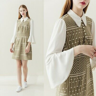 BNWT Miss Patina Metis Green 60s 70s Mod Scooter Vintage Style Dress S