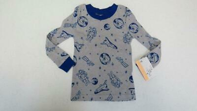 NASA Gray & Blue Outer Space Print Long Sleeve Shirt Size 2T WT TL69