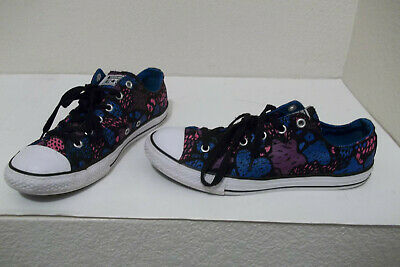 Converse All Star Low Top Canvas Camo Gold Stars Girls And Big Girls New N Box