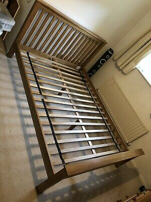 Solid Oak King Size Bed Frame