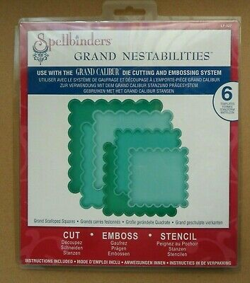 Spellbinders Grand Nestabilities Scalloped Squares LF-127