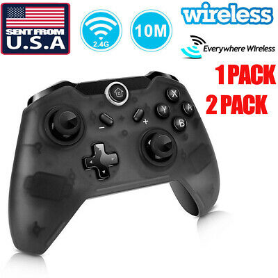 US 2x Wireless Pro Controller Gamepad Joypad Remote for Nintendo Switch Console