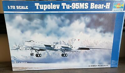 Trumpeter Tupolev Tu-95Ms Bear-H 01601 1:72 Plane Aircraft Unassembled