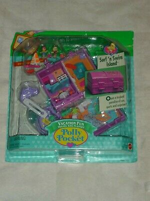 Vntg 1996 Mattel Polly Pocket Surf N Swim Island Vaction Fun Playset Moc New