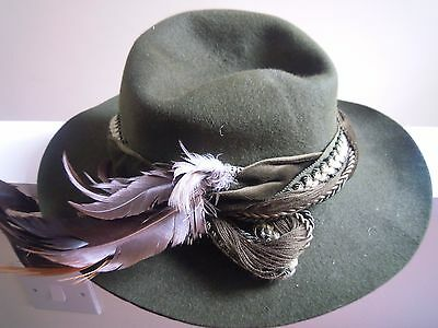 Vintage Dolomitenhut hat dark green made in austria excellent condition