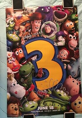 """TOY STORY 3"" DISNEY PIXAR 2010 ORIGINAL MOVIE POSTER 27x40 TOM HANKS, TIM ALLEN"