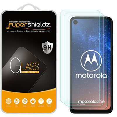 [3-Pack] Supershieldz Tempered Glass Screen Protector for Motorola One Vision
