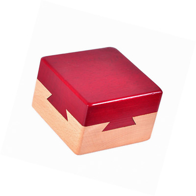 WISDOMTOY Mini 3D Brain Teaser Wooden Magic Drawers Gift Jewelery Box Puzzle Toy
