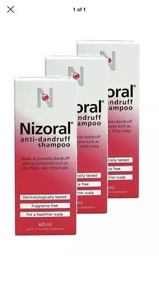 Nizoral  Anti Dandruff Shampoo 3 pack 120mm bottles