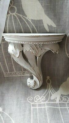 Vintage Ornate Shelf, Shabby Chic, French Country Wall Sconce