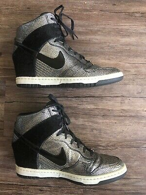 Nike Dunk Sky Hi QS City Pack New York NYC Wedges Size 9.5 Shoes Rare Women's
