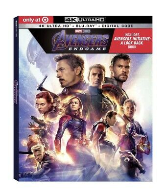 Avengers Endgame 4K Bluray Target Digibook Exclusive Marvel Comics Preorder 8/20