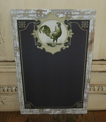 ROOSTER Chalkboard/Message Board Sign*Primitive Farmhouse/French Country Decor