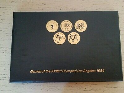Games of the 23rd Olympiad Los Angeles 1984 Olympic Coin/ Token Set (24 Coins)