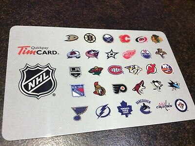 Tim Hortons Collectable Gift Card - NHL 2013